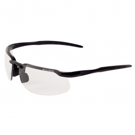 Bullhead BH1031AF Swordfish Safety Glasses - Black Frame - Clear Anti-Fog Lens-Bull Head Safety Glasses