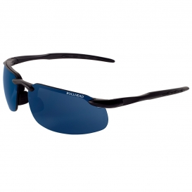 Bullhead BH106129 Swordfish Safety Glasses - Black Frame - Blue Polarized Mirror Lens-Bull Head Safety Glasses
