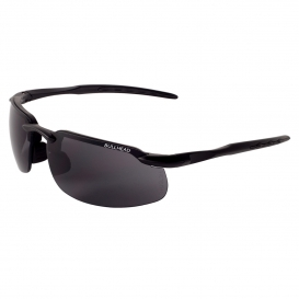 Bullhead BH1063AF Swordfish Safety Glasses - Black Frame - Smoke Anti-Fog Lens-Bull Head Safety Glasses