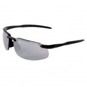 Bullhead BH1067 Swordfish Safety Glasses - Black Frame - Silver Mirror Lens-Bull Head Safety Glasses