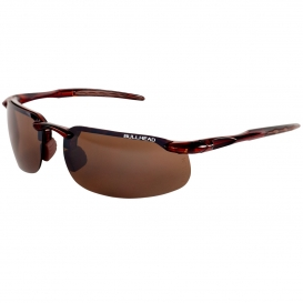 Bullhead BH10711 Swordfish Safety Glasses - Brown Frame - Brown Mirror Lens-Bull Head Safety Glasses
