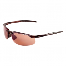 Bullhead BH10714 Swordfish Safety Glasses - Brown Frame - Brown Indoor/Outdoor Lens-Bull Head Safety Glasses