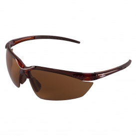 Bullhead BH11711 Mojarra Safety Glasses - Brown Frame - Brown Polarized Lens-Bull Head Safety Glasses