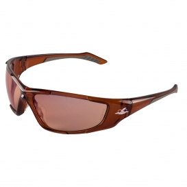 Bullhead BH12714 Javelin Safety Glasses - Brown Frame - Copper Lens-Bull Head Safety Glasses
