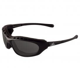Bullhead BH1363AF Steelhead Safety Glasses - Black Foam Lined Frame - Smoke Anti-Fog Lens-Bull Head Safety Glasses