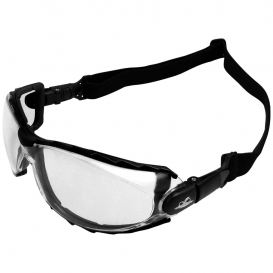 Bullhead Safety BH2011AF CG4 Glasses/Goggles - Black Foam Lined Frame - Clear Anti-Fog Lens-