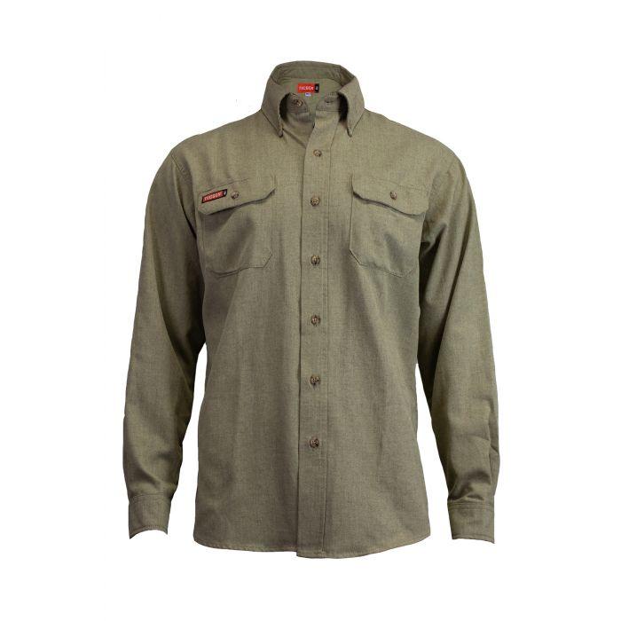 8 Cal 5.5 oz. TECGEN FR Work Shirt-National Safety Apparel