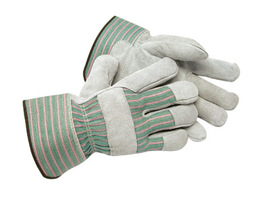 Radnor Large Shoulder Split Leather Palm Gloves With Canvas Back And Safety Cuff-FR Girls of Texas
