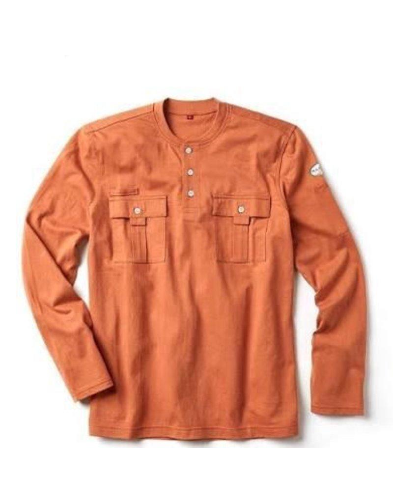 Rasco Utility Henley T-Shirt - Burnt Orange-