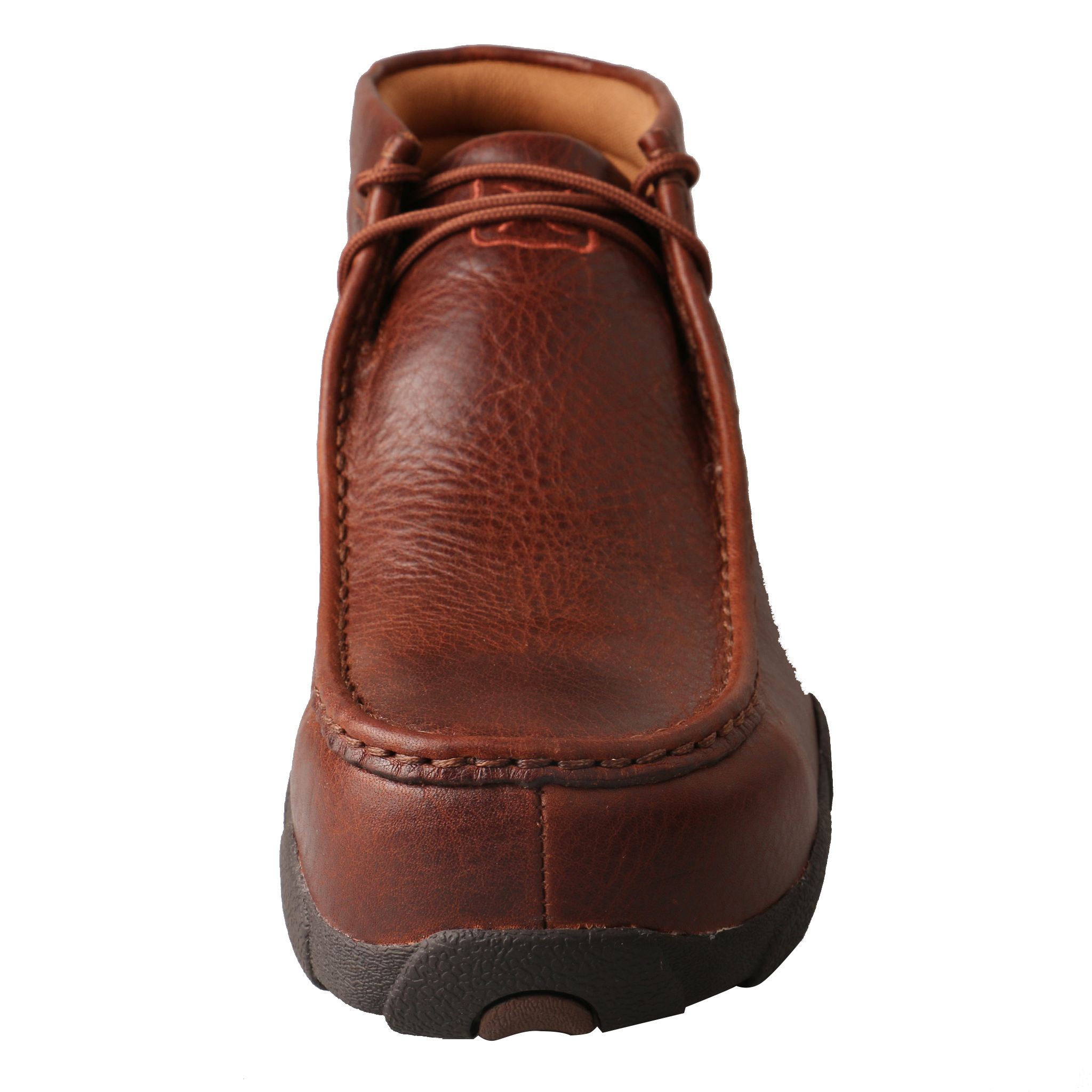 Men's Driving Moccasins – Cognac Glazed Pebble-Twisted X
