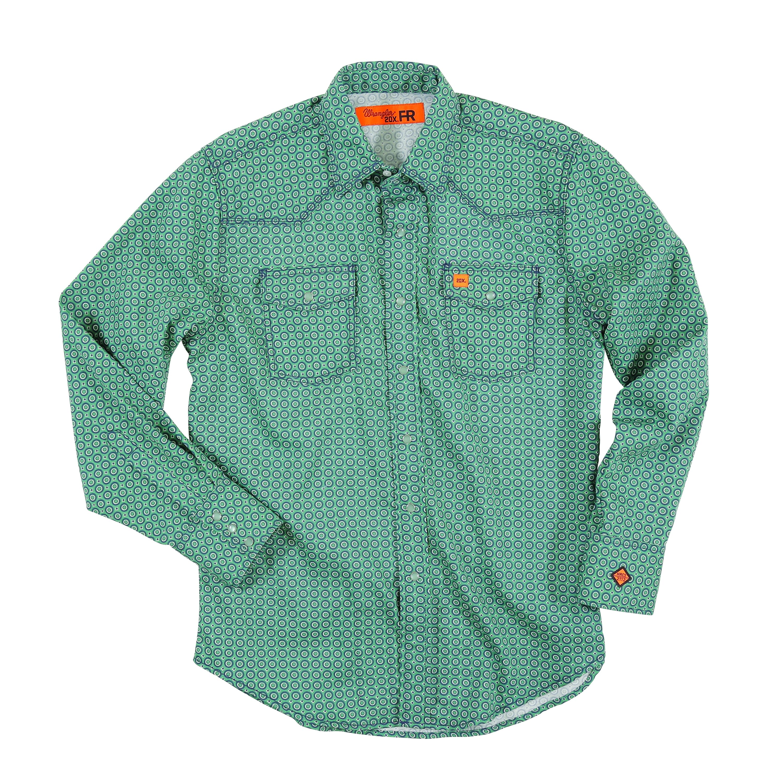 43b899932669 ... WRANGLER® FLAME RESISTANT 20X® LONG SLEEVE WORK SHIRT- Green-Wrangler FR