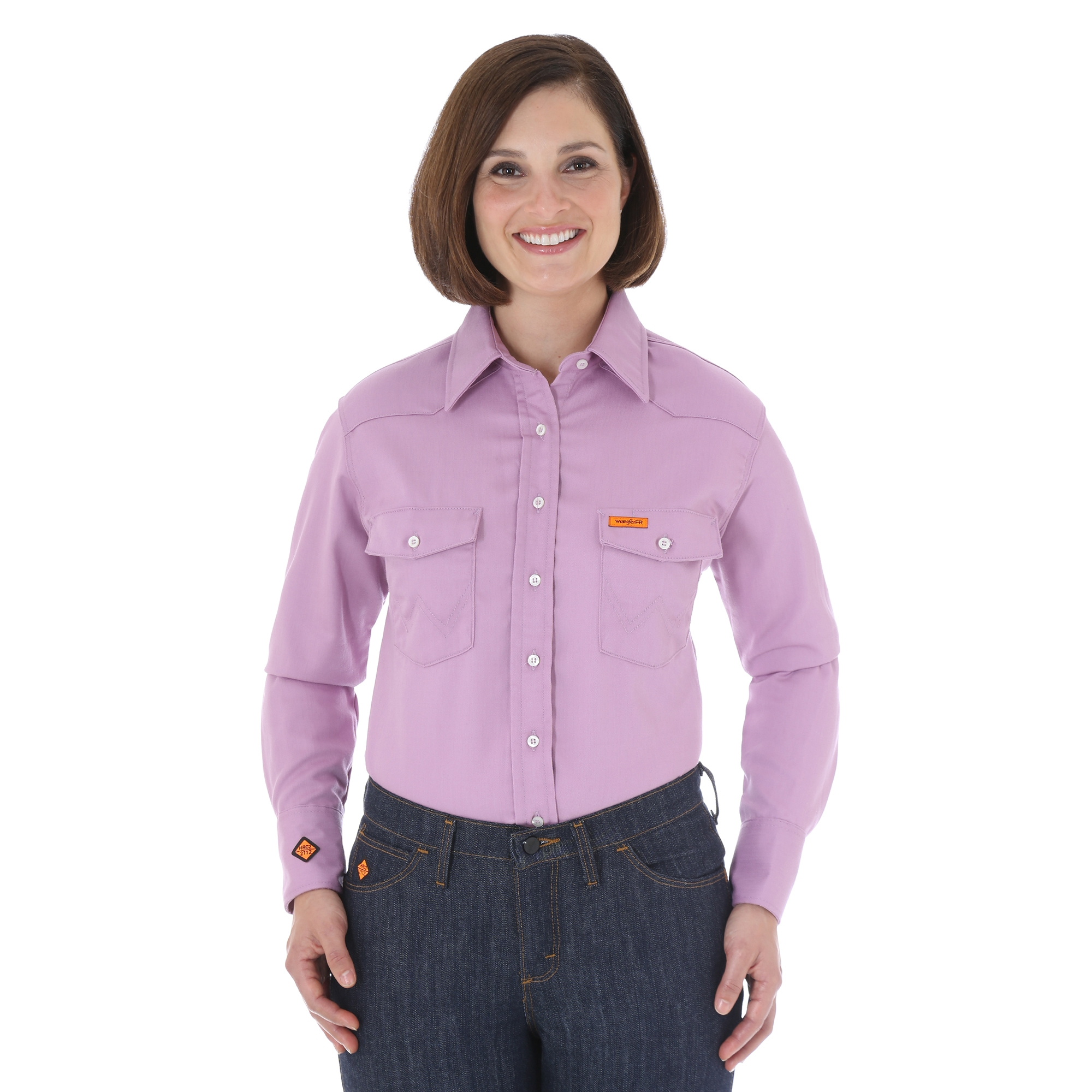 WRANGLER WOMEN'S LIGHTWEIGHT FR LONG SLEEVE SHIRT - Purple-Wrangler FR