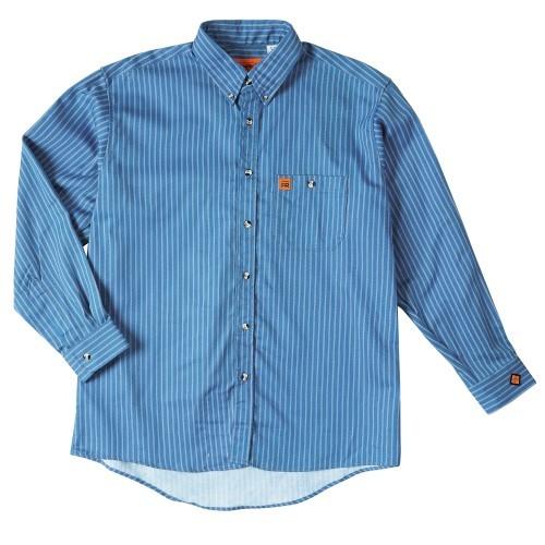 e7679e56 WRANGLER® RIGGS WORKWEAR® FR FLAME RESISTANT WORK SHIRT Blue Stripe-Wrangler  FR