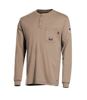 7 oz. Walls Cotton Long-Sleeve Henley-