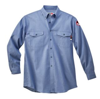7 oz. Walls Cotton Button-Down Chambray Work Shirt-