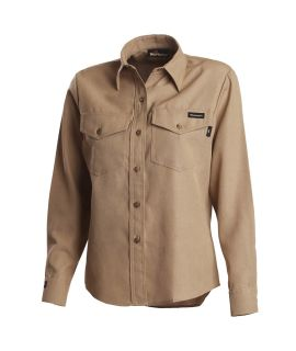 4.5 oz Nomex IIIA Long Sleeve Womens Utility Shirt-Workrite FR