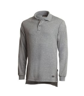 Workrite Fire Service Industrial Shirts 6.7 Tecasafe Knit Polo Ls H. Gray-Workrite Fire Service