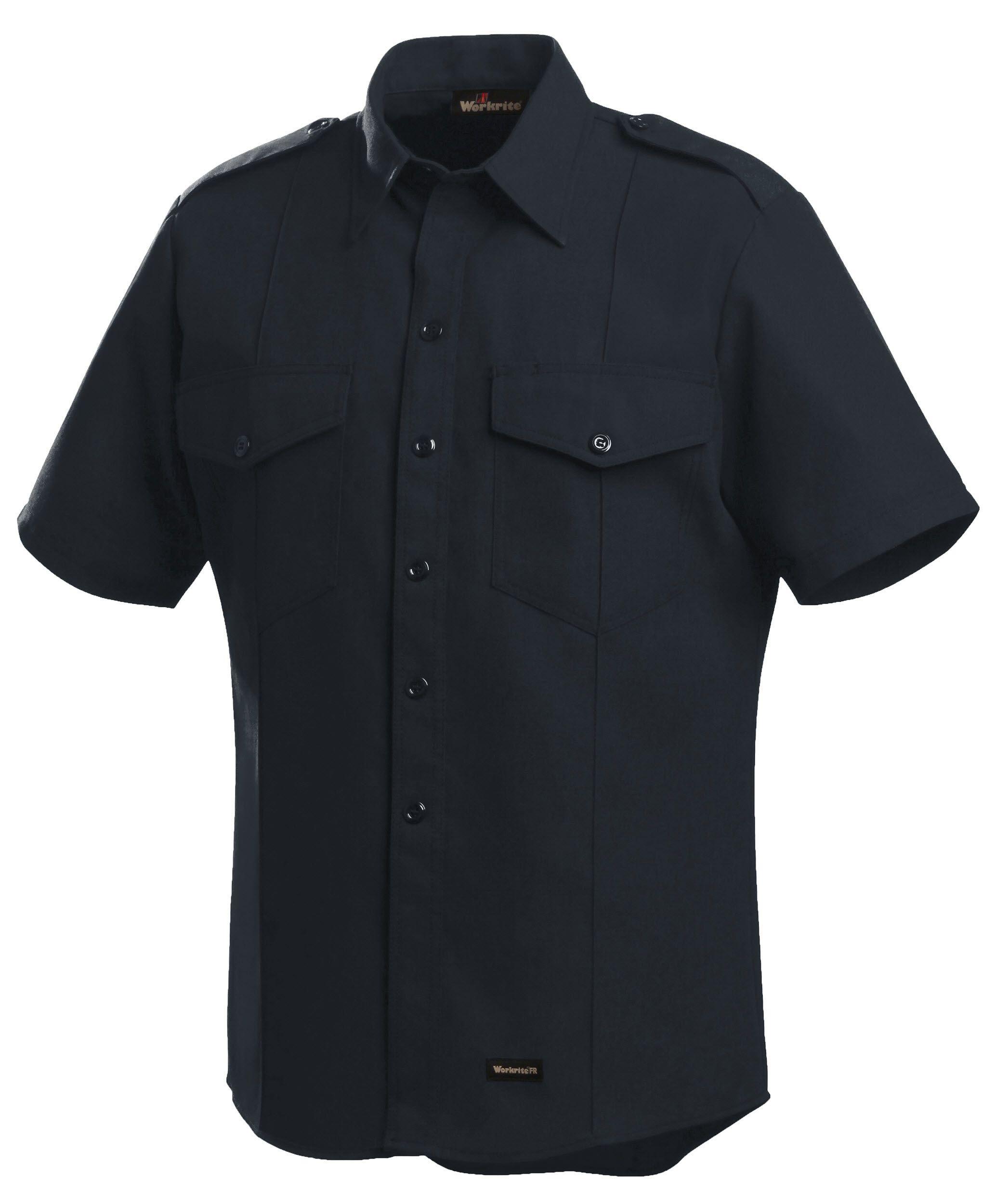 4.5 oz. Nomex IIIA Short-Sleeve Fire Chief Shirts With Working Epaule-