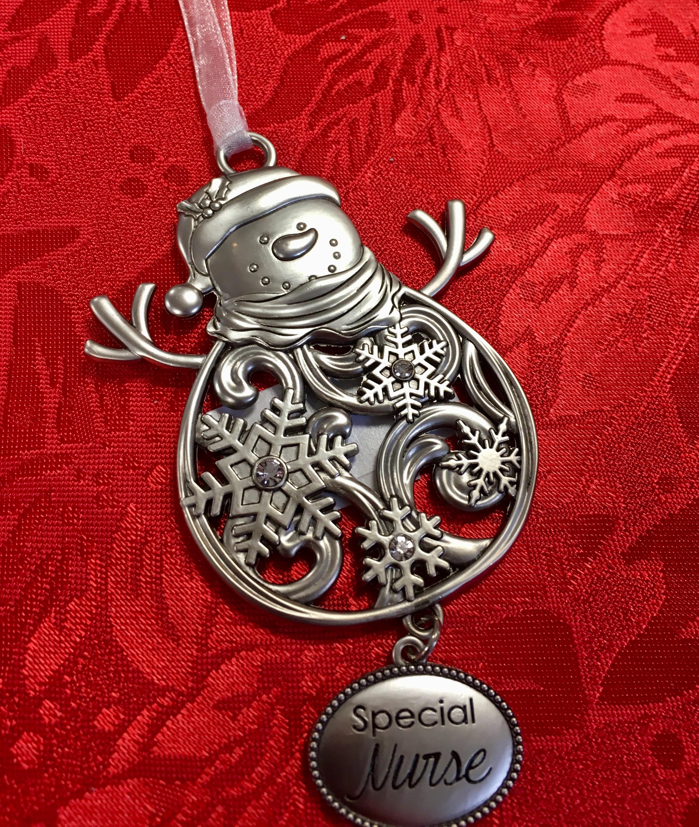 Snowman Ornament -Ganz