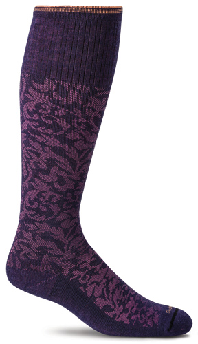 Sockwell Damask SW16W Moderate 15-20 mmHg Women's Knee High Compression Socks-Sockwell