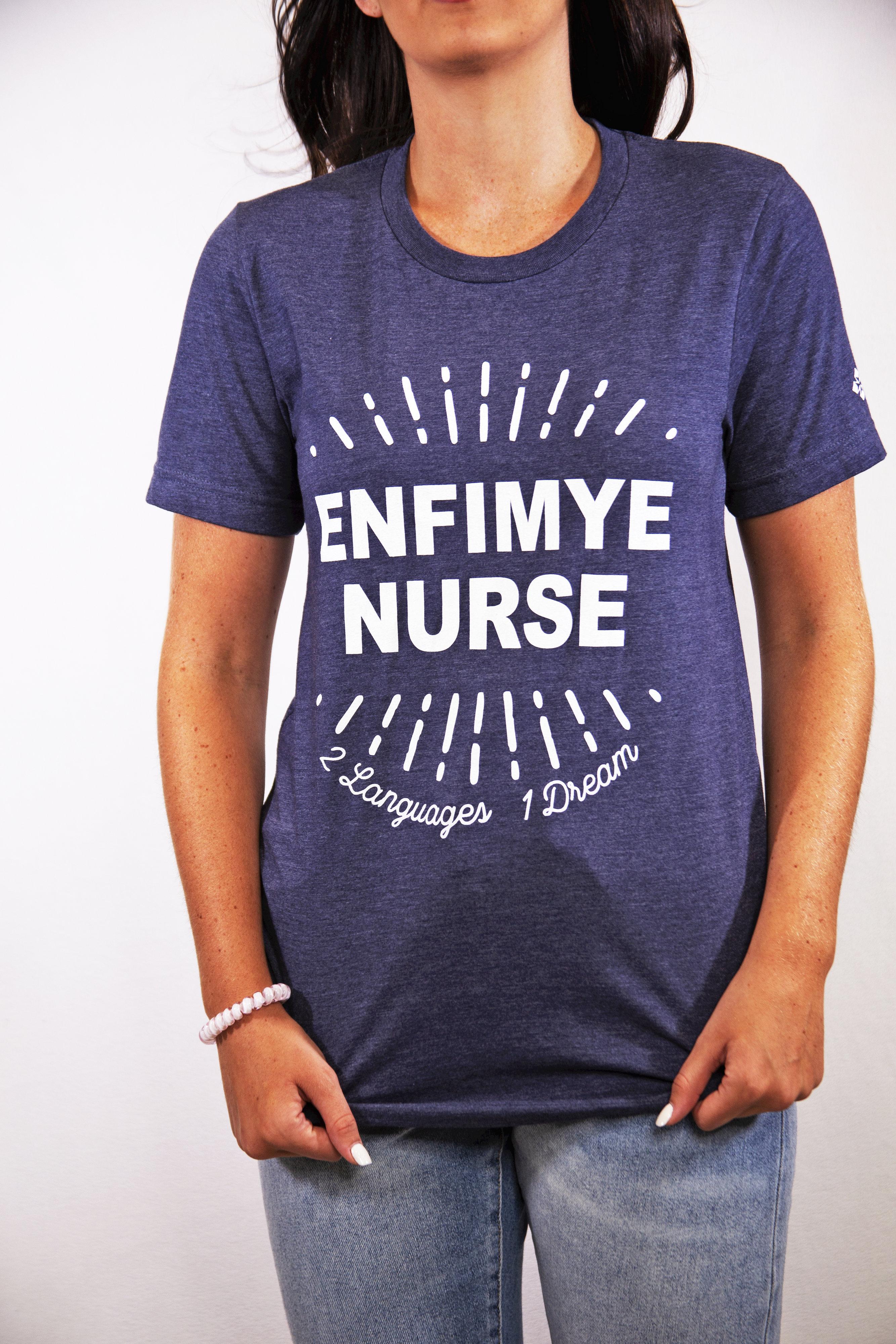 Haiti Nursing T-Shirt.  Purchase to support nursing students in Haiti!-Meridy's Pro