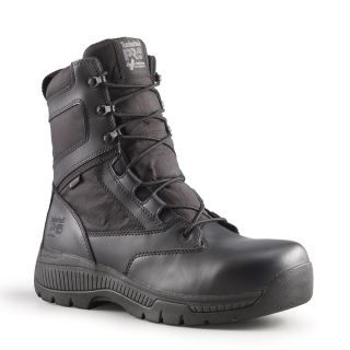 "Mens Timberland Pro Valor Duty 8"" Side-Zip Soft Toe Boots-"
