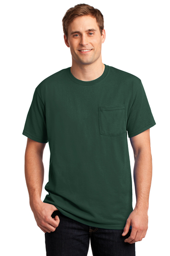 Jerzees® - Dri-Power® Active 50/50 Cotton/Poly Pocket T-Shirt.-Jerzees