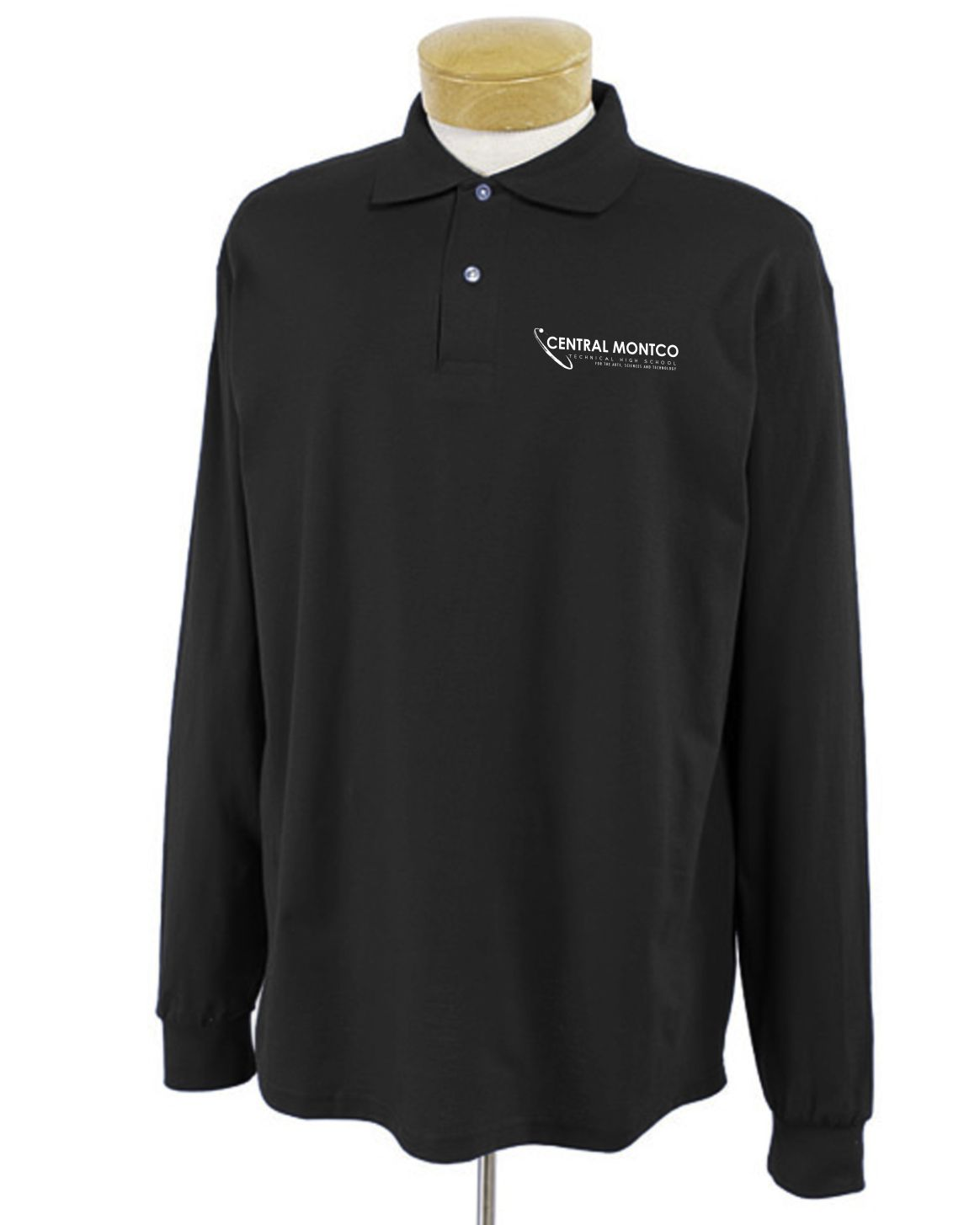 Adult 5.6 Oz. Spotshield™ Long-Sleeve Jersey Polo-