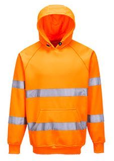Hi-Vis Hooded Sweatshirt-Portwest