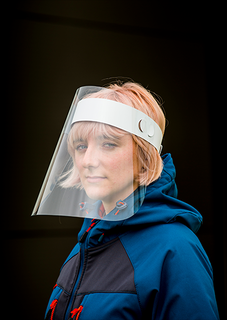 300m APET Face Shield (Pk100)-Portwest