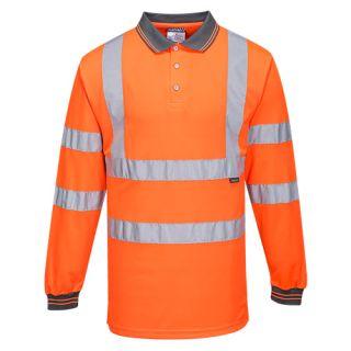Hi-Vis Polo Shirt L/S-Portwest