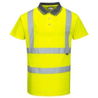 Hi-Vis S/S Polo Shirt-Portwest