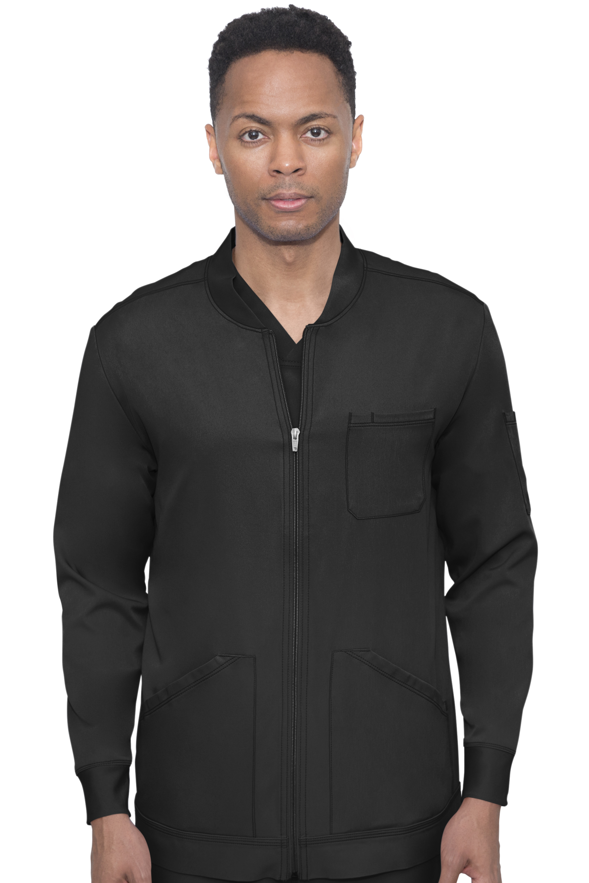 Michael Zip Front Scrub Jacket-Hh Works