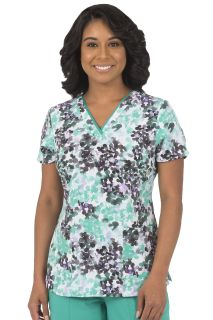 Amanda Top - In Water Color Print # 1116-Healing Hands Scrubs