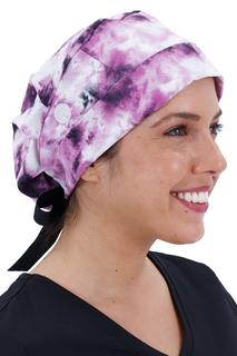 Sloan Print Cap In Tie Dye Print-