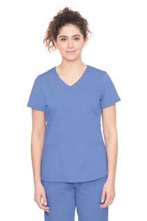 Jordan Top - Cross-Over V Neck Top w/ Pcross-Over V Neck Top w/ P-Healing Hands Scrubs