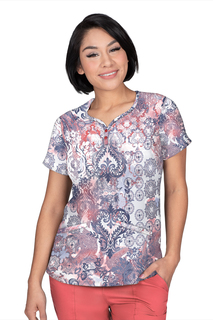 Isabel Top In Print # 7935 Antique Beauty-