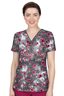 Amanda Top In Print # 1531 Midnight Sky-Healing Hands Scrubs