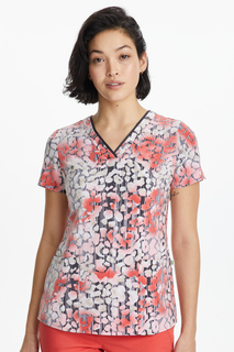 Amanda Top In Print # 1523 Texture Skin-Healing Hands Scrubs