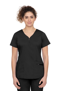 Jeni Top Nextgen Athleisure Inspired Yneck Zipper Top-Healing Hands Scrubs