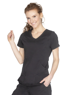 Josie Top Stylish V Neck With Knit Panels-