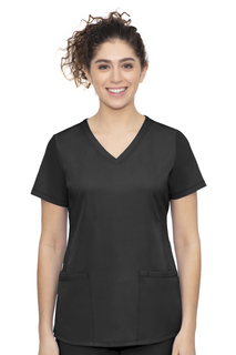 Monica Top-Stylish V Neck Top With 4 Pockets & 1 Media Pocket & Front Princess Seam-Healing Hands Scrubs