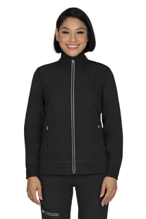 Carly Jacket - Zip Front, Ribbed Cuff-Healing Hands Scrubs