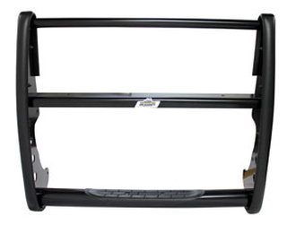 Ford Expedition 2/4WD 2007-13 Grille Guard with Brush Guards and Headlight Protectors (Black)-Go Rhino