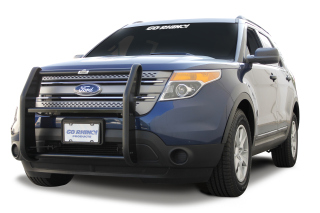Ford Explorer 2/4WD 2006-10 Grille Guard with Brush Guards and Headlight Protectors (Black)