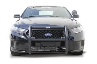 """Ford Interceptor Sedan (Taurus) 2013 4 Light """"LR Series"""" Push Bumper (Federal Signal IPX6)-Go Rhino"""