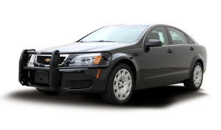 "Chevy Caprice 2011-13 2 Light ""LR Series"" Push Bumper (Soundoff Signal nForce)-Go Rhino"