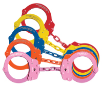 Model 752C Oversize Chain Link Handcuffs - Colours-Peerless