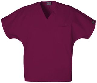 Unisex V-neck Scrub Top -Wine Flash sale-The Ultimate Image