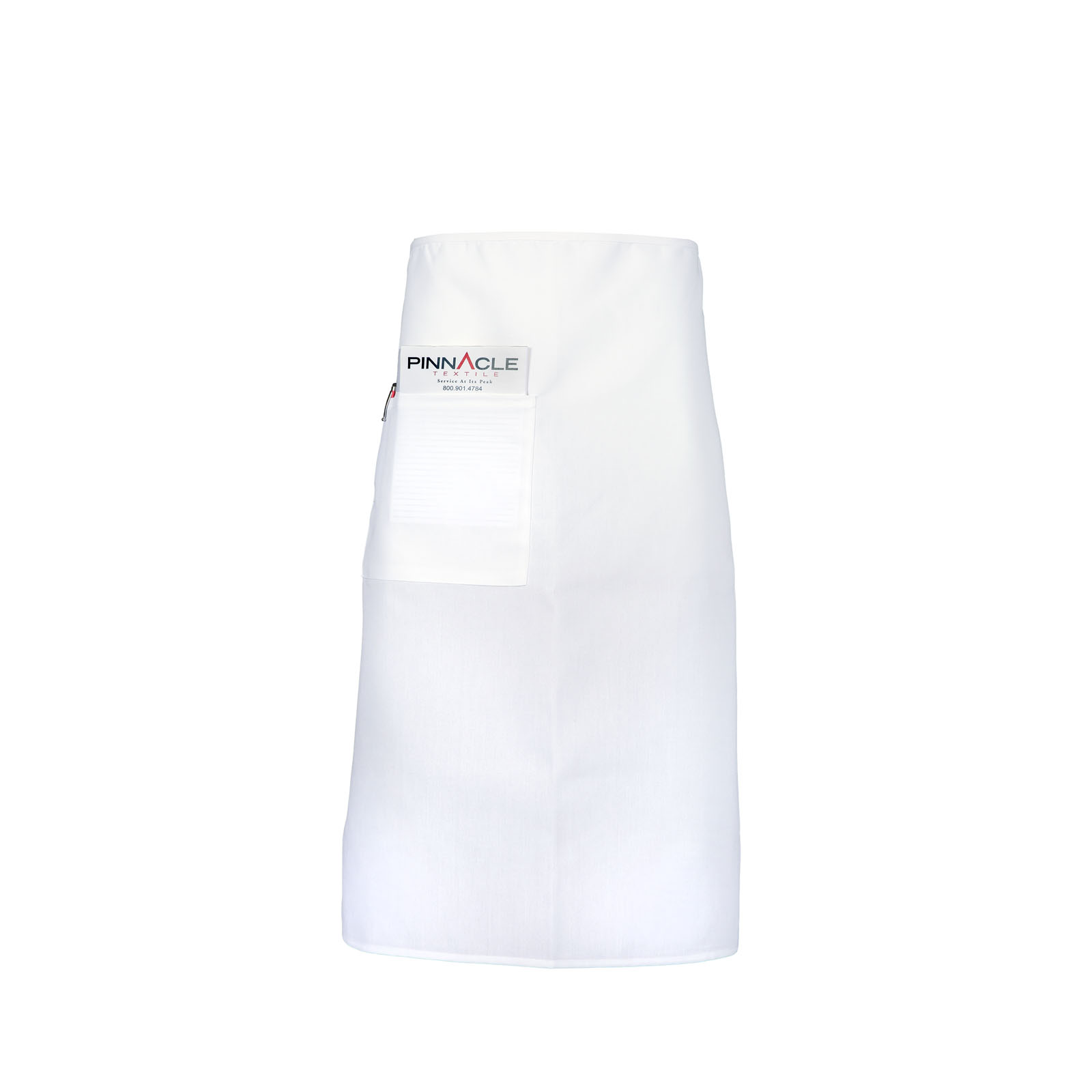 Full Bistro Apron White, One 9x9 Pocket - A2006-